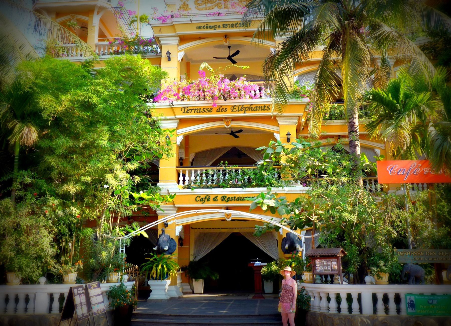 Terrasse des Elephants Hotel / Siem Reap, Cambodia