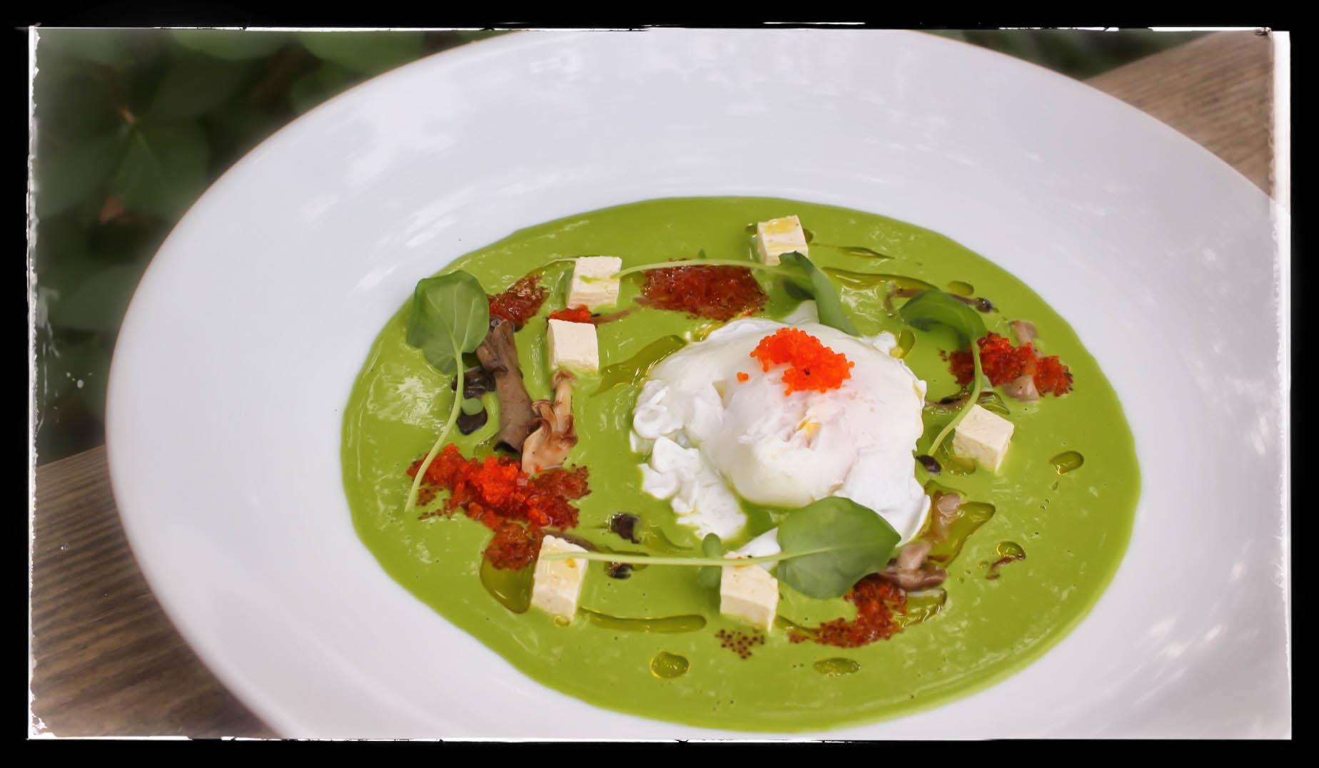 Organic Lettuce and Dashi Soup